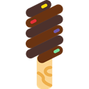 sweet, Ice cream, summer, Dessert, Summertime, food Black icon