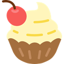 food, cupcake, Dessert, sweet, muffin, baked, Bakery Moccasin icon