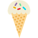 sweet, summer, food, Summertime, Dessert, Ice cream Black icon