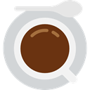 cup, Cups, Coffee, rounded, Coffees, hot, Plate, food LightGray icon