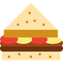 sandwich, Bread, Lunch, snack, food, meal NavajoWhite icon