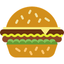food, diet, Unhealthy, hamburguer, Fast food Goldenrod icon