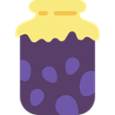 breakfast, Jar, food, jam, Conserve DarkSlateBlue icon