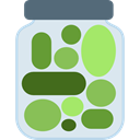 vegan, healthy, Pickles, food, vegetarian, Jar Lavender icon
