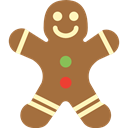 Bakery, cookie, gingerbread man, gingerbread, sweet, food, Dessert Sienna icon