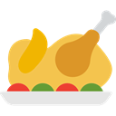 Roast Chicken, chicken, turkey, food, chicken leg, Turkey Leg SandyBrown icon