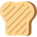 toast, Browned, Toasted, food, Toaster, Heat Khaki icon
