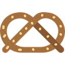 pretzel, Pastry, sweet, Powdered Sugar, food, sugar Sienna icon
