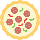 junk food, Pizzas, Pizza, Restaurants, food, Italian Food, Fast food, Restaurant LightGoldenrodYellow icon