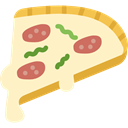 piece, food, Pizza, dough, Italian Food, slice BlanchedAlmond icon
