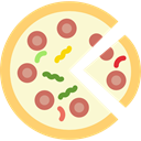 junk food, Restaurants, Restaurant, food, Fast food, Pizza, Italian Food, Pizzas LightGoldenrodYellow icon