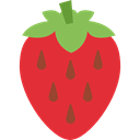 Healthy Food, vegan, Fruit, strawberry, diet, organic, vegetarian, food Crimson icon