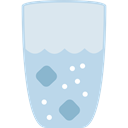 Glass Of Water, drink, glass, food, water, Healthy Food, liquid LightBlue icon