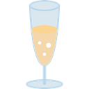 champagne, Refreshment, glass, food, drinks Black icon
