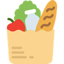 Grocery, Shopping Store, Goods, Supermarket, food, groceries Khaki icon