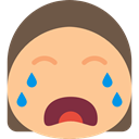 Emoticon, Crying, Emotion, interface, feelings, people, Face, smiley NavajoWhite icon