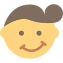 Toupee, interface, Bangs, Emoticon, Trendy, hair Khaki icon