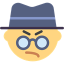 interface, Glasses, Emoticon, thug, bully, hat DimGray icon
