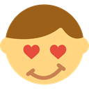 Fall In Love, Emoticon, valentines, interface, signs, in love Khaki icon