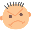 Angry, faces, Anger, Gestures, interface, Face, Emoticon NavajoWhite icon