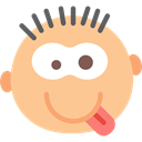 Emoticon, Face, feelings, Goofy, interface, Emotion NavajoWhite icon