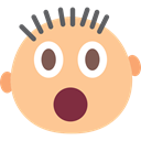 Gestures, surprised, interface, shocked, head, smiley, people, Emoticon, shock NavajoWhite icon