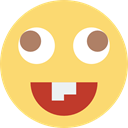 Emoticon, Emotion, feelings, interface, Face, Goofy Khaki icon
