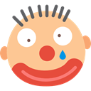 laughter, Clown, Comedy, funny, interface, head, Face NavajoWhite icon