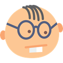 Freak, geek, interface, nerd, Emoticon, Glasses Icon