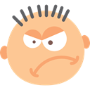 faces, Angry, Face, baby, interface, Anger, Emoticon, Gestures NavajoWhite icon