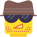 people, Emoticon, detective, Agent, Lego, person, interface DimGray icon