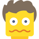 interface, Questions, think, Lego, meditating, meditation, Questioning, people, scared Gold icon