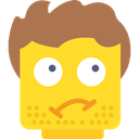 Lego, dirty, Grubby, Emoticon, Beard, interface Gold icon