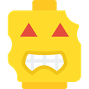 zombie, monster, interface, Face, Emoticon, Lego Gold icon