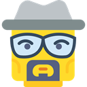 Heisenberg, Breaking Bad, interface, Emoticon, Lego, Character Gold icon