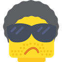 Face, rock, rockstar, Emoticon, interface, rocker, Lego DimGray icon
