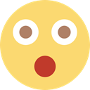 interface, Emoticon, Gestures, smiley, shock, people, head, surprised, shocked Khaki icon