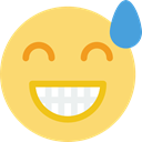 people, Emotion, interface, feelings, smiley, Face, Relieved, smiling, Emoticon Khaki icon