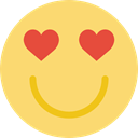 emoticons, in love, smiling, Face, Emoticon, square, rounded, smile, interface Khaki icon