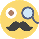 Masculine, interface, Gestures, Gentleman, Mustache, Emoticon Khaki icon