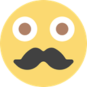 Heads, people, interface, moustache, faces, Beard, Facial Hair, emoticons, hipster, smile, feelings Khaki icon