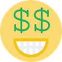 Emoticon, smiley, rich, feelings, Face, smiling, interface, Emotion, people Khaki icon