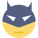 Superheroes, shapes, Comic, interface, Superheroe, superhero, Emoticon DimGray icon