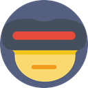 Superheroes, Emoticon, Comic, superhero, interface, Cyclops, shapes, Superheroe DimGray icon