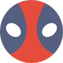 shapes, Emoticon, Deadpool, Superheroes, Comic, interface, superhero, Superheroe DimGray icon