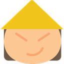 Asian, japanese, people, interface, oriental, Emoticon NavajoWhite icon