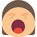 faces, emoticons, mouth, square, interface, Face, Eyes, open, Emoticon, Yawn, Yawning NavajoWhite icon