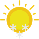 Sunny, winter, weather, Frost, snowing, Cold, Snow, snowy, shapes, sun Gold icon