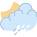 day, Cloudy, Rain, weather, meteorology, Sunny, summer Lavender icon