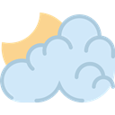 Cloud, Cloudy Night, Atmospheric, weather, Cloudy, sky Lavender icon